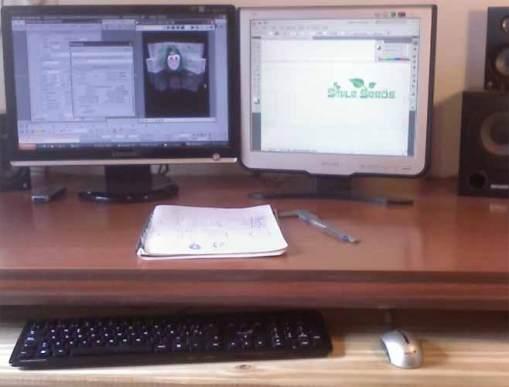 diseñar o trabajar con dos monitores
